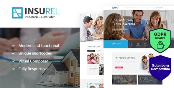 Wordpress Immobilien Template InsuRel   Insurance & Finance WordPress Theme