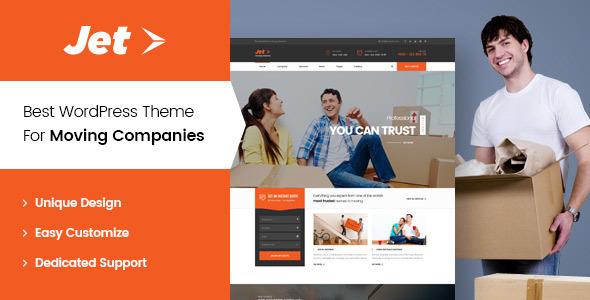 Wordpress Corporate Template Jet - Home Moving Services WordPress Theme