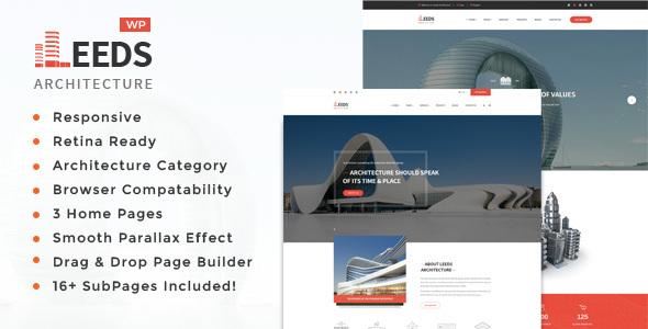 Wordpress Immobilien Template Leeds -  Interior Design WordPress Theme