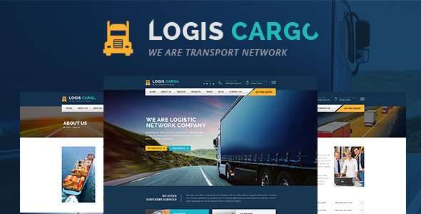 Wordpress Corporate Template Logiscargo - Logistics and Cargo WordPress Theme