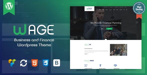 Wordpress Immobilien Template Wage - Business and Finance WordPress Theme