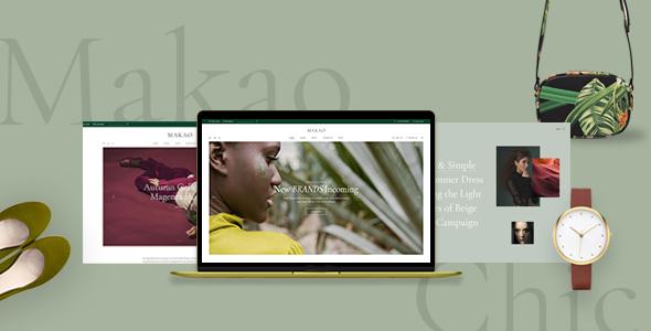 Wordpress Shop Template Makao - Fashion Shop WordPress Theme