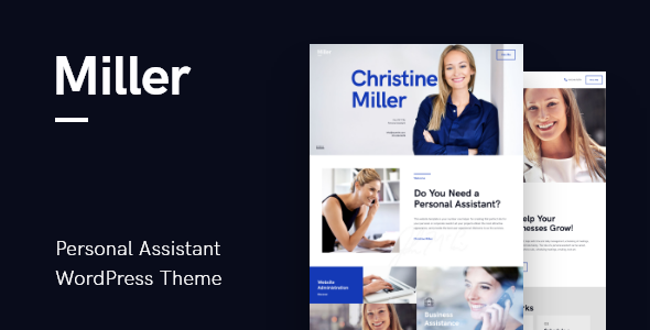 Wordpress Immobilien Template Miller | Personal Assistant & Administrative Services WordPress Theme
