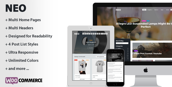 Wordpress Blog Template NEO - A Modern Personal WordPress Theme