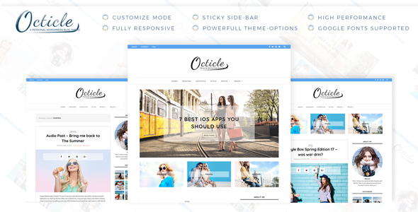 Wordpress Blog Template Octicle - Personal WordPress Blog Theme