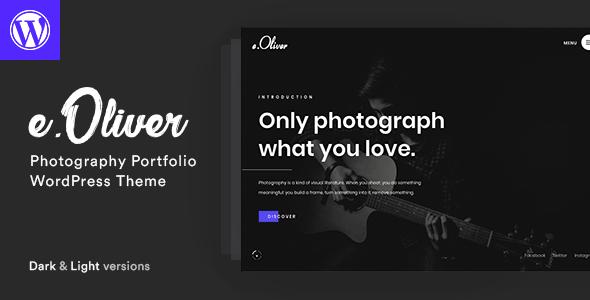 Wordpress Kreativ Template Oliver - Photography Portfolio Theme
