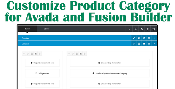 Wordpress Add-On Plugin Customize Product Category for Avada and Fusion Builder