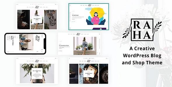 Wordpress Blog Template Raha - Creative WordPress Theme