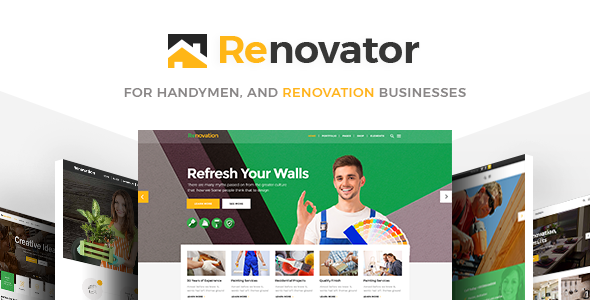 Wordpress Immobilien Template Renovator - Contractors and Renovation Business Theme