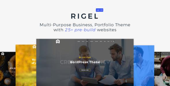 Wordpress Immobilien Template Rigel - Multi-Purpose Business Portfolio Theme