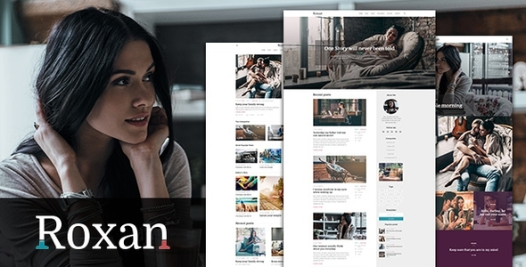 Wordpress Blog Template Roxan | Blog & Magazine WordPress Theme