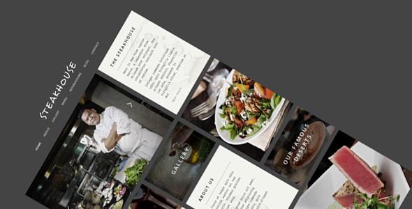 Wordpress Corporate Template Steakhouse - Restaurant WordPress Theme
