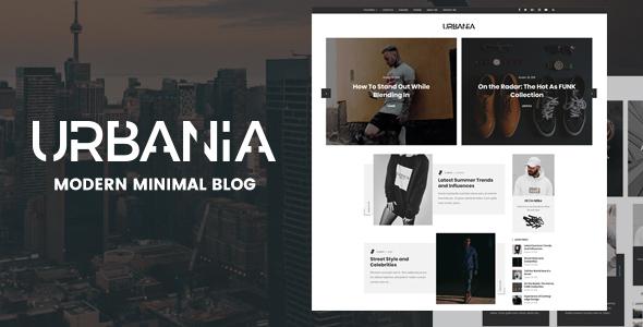 Wordpress Blog Template Urbania - Modern Minimal WordPress Blog