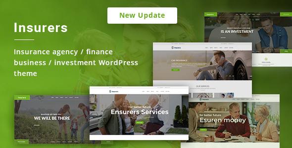 Wordpress Immobilien Template Insurers - Insurance Agency WordPress Theme