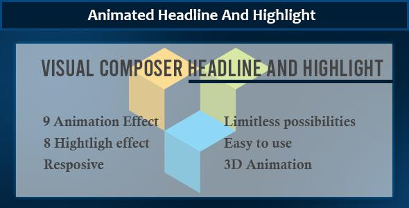 Wordpress Add-On Plugin Visual Composer - Animate Headline And Highlight Extension