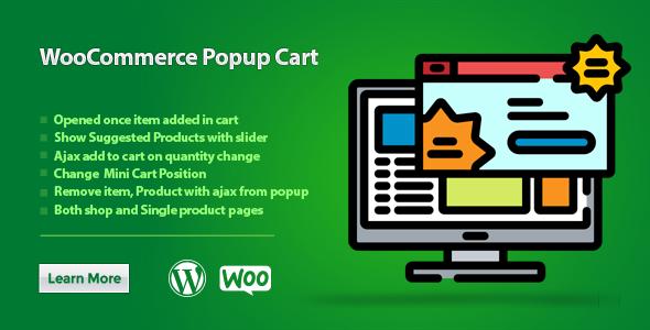 Wordpress E-Commerce Plugin WooCommerce Popup Cart