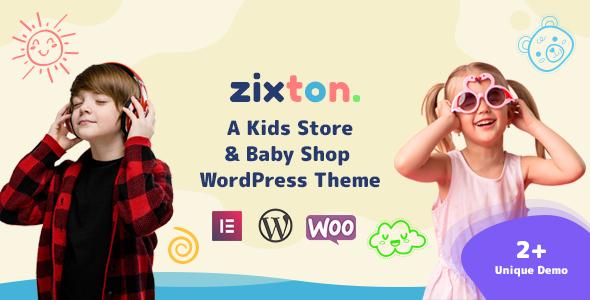 Wordpress Shop Template Zixton  - Baby Fashion WooCommerce Theme