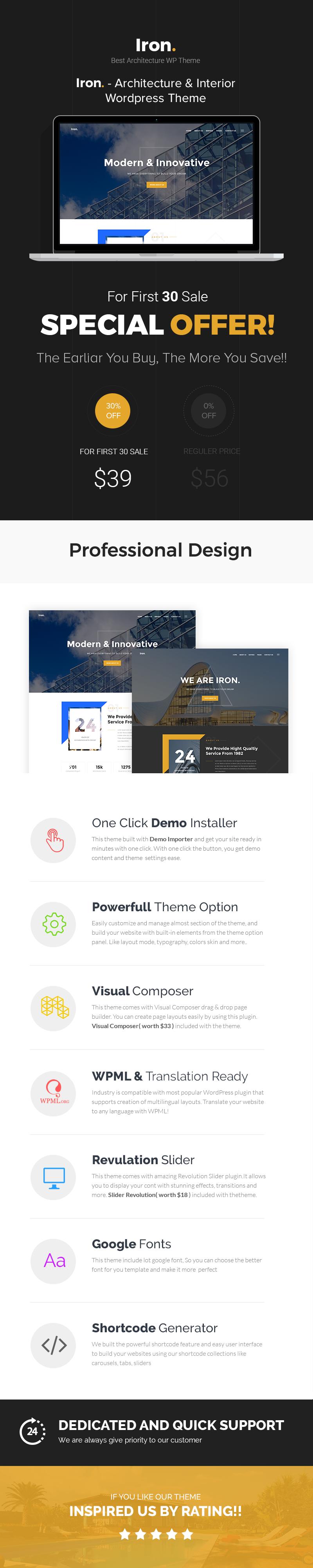 Eisen - Architektur, Interieur und Design WordPress Theme - 1
