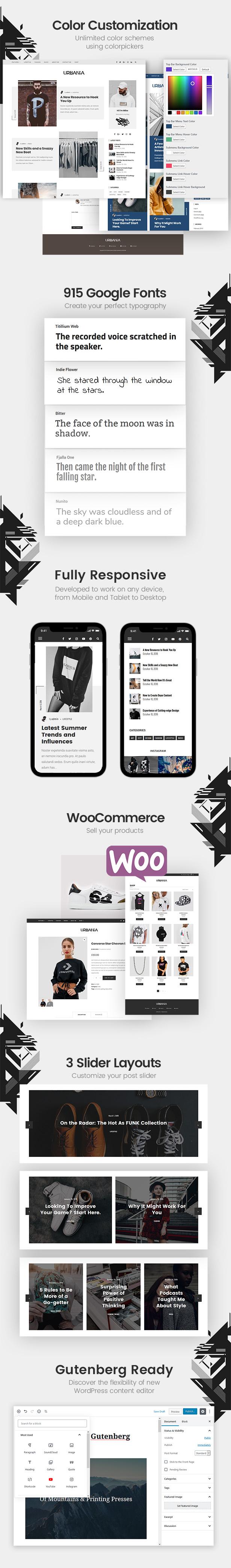 Urbania - Moderner minimalistischer WordPress-Blog - 1