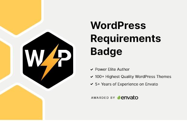 WordPress-Anforderungsabzeichen