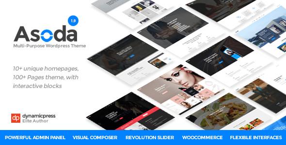 Wordpress Immobilien Template Asoda - A Multipurpose WordPress Theme