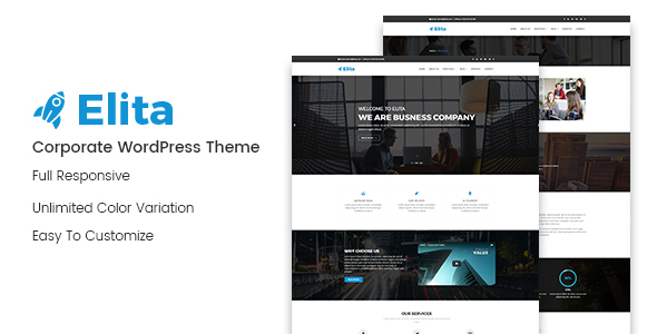 Wordpress Immobilien Template Elita – Corporate WordPress Theme