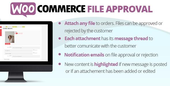 Wordpress E-Commerce Plugin WooCommerce File Approval