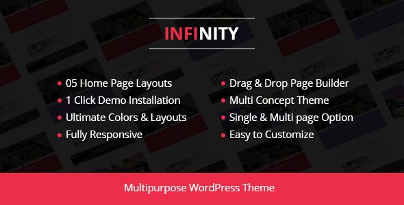 Wordpress Immobilien Template Infinity - Corporate Business WordPress Theme