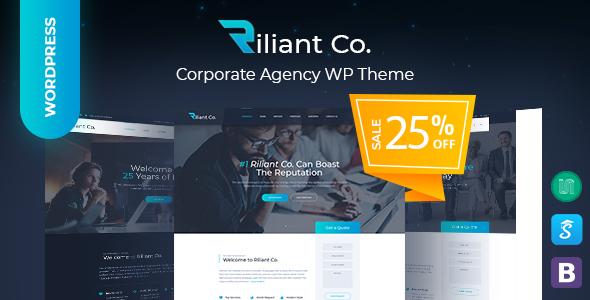 Wordpress Corporate Template Riliant - Corporate Business Agency WordPress Theme