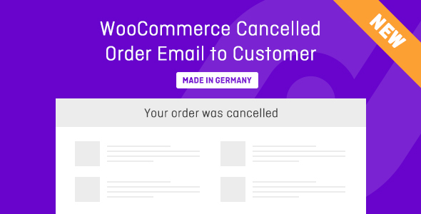 Wordpress E-Commerce Plugin Cancelled / Failed Order Email for WooCommerce