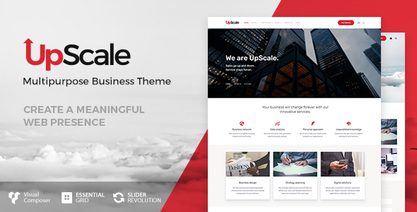 Wordpress Immobilien Template UpScale - Business Theme