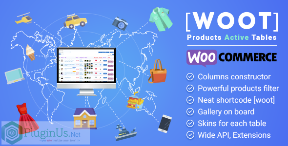 Wordpress E-Commerce Plugin WOOT - WooCommerce Products Tables Professional