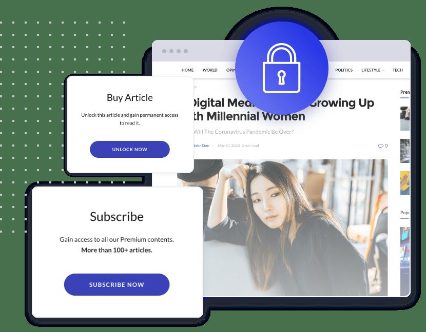 Jeg Paypal Paywall & Content-Abonnementsystem - WooCommerce Plugin - 3