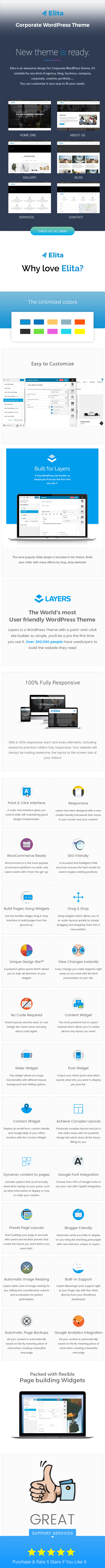 Elita - Corporate WordPress Theme