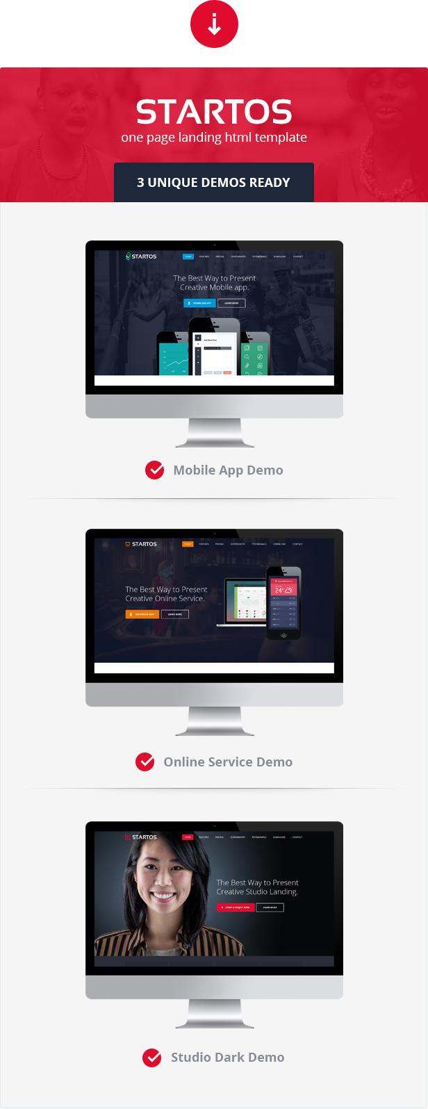 Startos - Moderne App Landing Page WordPress Theme - 1