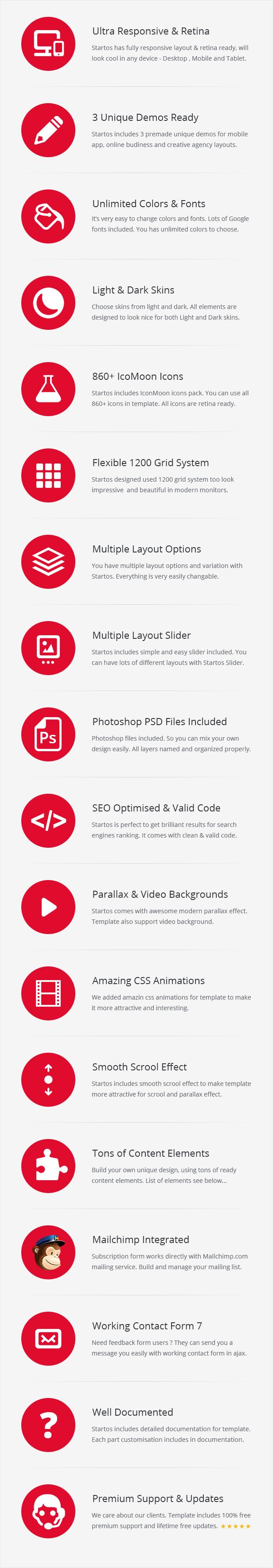 Startos - Moderne App Landing Page WordPress Theme - 5