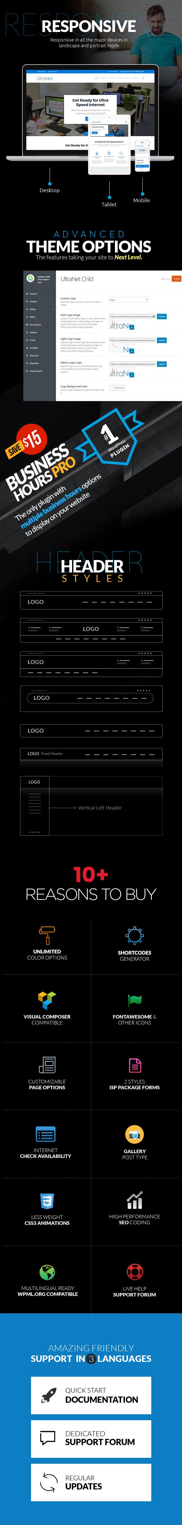 UltraNet - Breitband- und Internetdienstanbieter WordPress Theme - 6