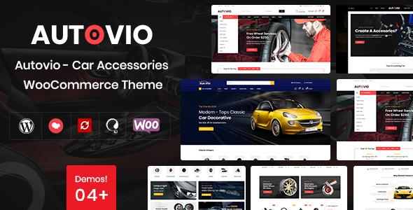 Wordpress Shop Template Autovio - Car Accessories WooCommerce Theme