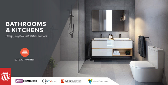 Wordpress Immobilien Template Bathrooms And Kitchens - WordPress Theme