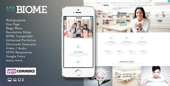 Wordpress Corporate Template Biome | Multi-Purpose WordPress Theme