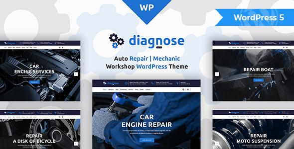 Wordpress Immobilien Template Diagnose - Auto Repair Services WordPress Theme
