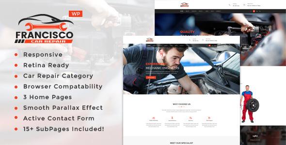 Wordpress Immobilien Template Francisco - Auto Mechanic Repair WordPress Theme