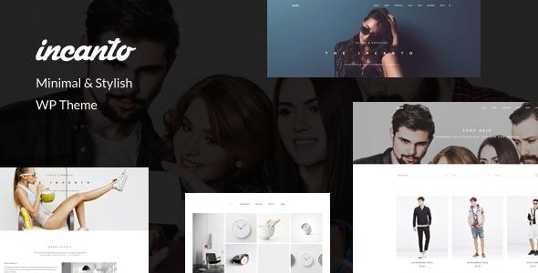 Wordpress Corporate Template Incanto - Minimal & Stylish WP Theme