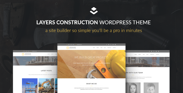 Wordpress Corporate Template Max Construction - Layers Child Theme