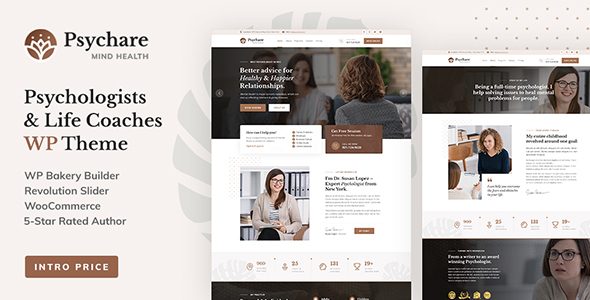 Wordpress Immobilien Template Psychare - WordPress Theme for Psychologists & Life Coaches