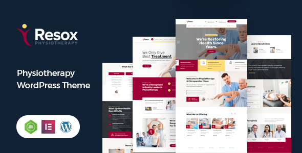 Wordpress Immobilien Template Resox - Physiotherapy WordPress Theme