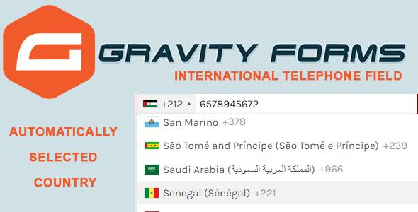 Wordpress Formular Plugin Gravity Forms International Telephone Field