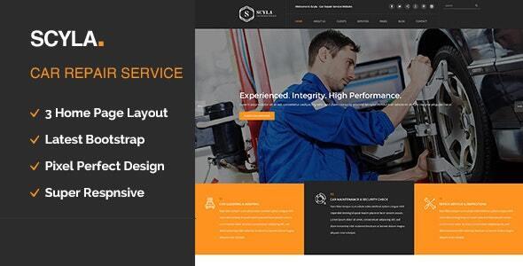 Wordpress Immobilien Template Scyla || Auto Mechanic & Car Repair WordPress Theme