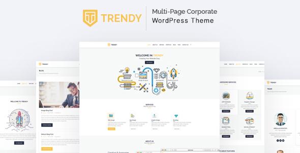 Wordpress Corporate Template Trendy - MultiPage Corporate WordPress Theme