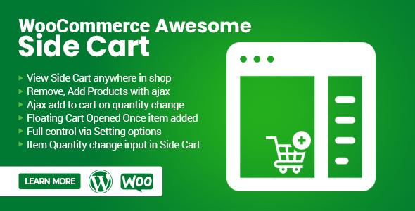 Wordpress E-Commerce Plugin WooCommerce Awesome Side Cart